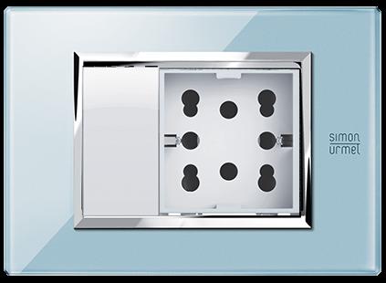 placche per interruttori e presa elettrica multistandard simon urmet